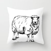 Sheep Sheep. Throw Pillow