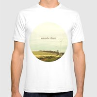 Wanderlust Mens Fitted Tee White SMALL