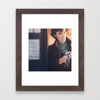 Consulting Timelord Framed Art Print