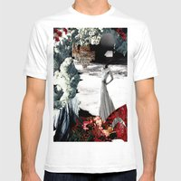 THE WAKE Mens Fitted Tee White SMALL