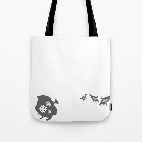 In which wind-up birds happen Tote Bag