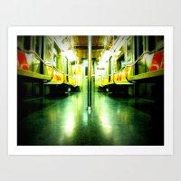 Subway Symmetry Art Print