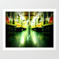 Subway Symmetry Art Print