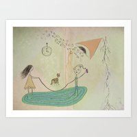 Jumping Rope In The Livi… Art Print