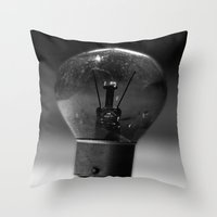 Thinking Bulb Throw Pillow
