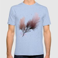 feather Mens Fitted Tee Tri-Blue SMALL