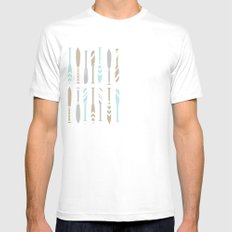 River OAR Ocean SMALL White Mens Fitted Tee