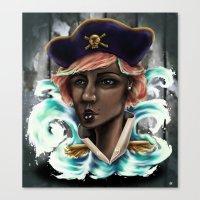 Captain Squid Lips Marqu… Canvas Print
