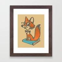 Fox Librarian - A Well R… Framed Art Print