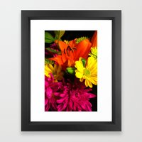 Bouquet of flowers Framed Art Print
