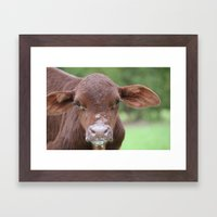 First Drink Framed Art Print