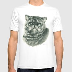 Shorthair Persan cat G088 Mens Fitted Tee White SMALL