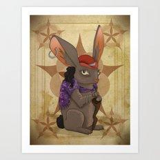 Bohemian Beast: Rabbit Art Print