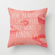 beautiful lips Throw Pillow