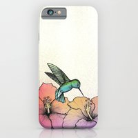 iPhone & iPod Case featuring Hummingbird and Hibiscus by Lorri Leigh Art