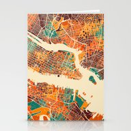 New York Mosaic Map #2 Stationery Cards
