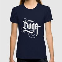 Dogg Womens Fitted Tee Navy SMALL