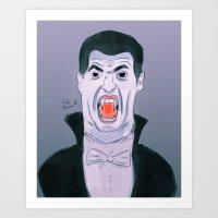 Suarez The Vampire Art Print
