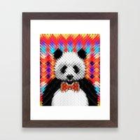 Geo Panda Framed Art Print