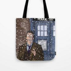 Real Snow - Doctor Who Tote Bag