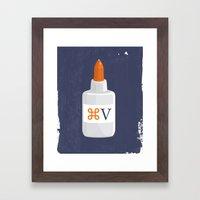 Command Paste Framed Art Print