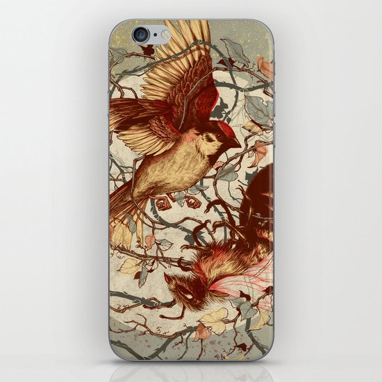 Honey & Sorrow (grey) iPhone & iPod Skin