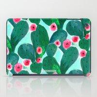 Jade Cactus Bloom iPad Case