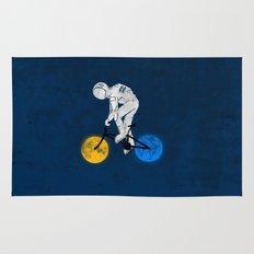 Astronaut On Bicycle Rug