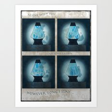 A Moment in Time (Blue) Art Print