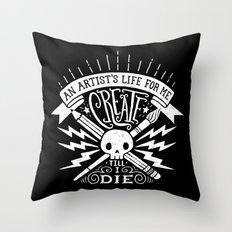 Artist's Life Throw Pillow