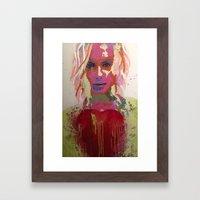 Scarlett Tear Framed Art Print