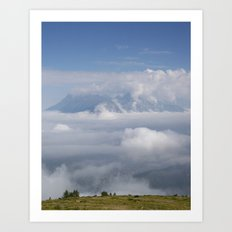 The City Under The Clouds Art Print