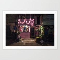 Divali Lights - Mahalaxmi, Mumbai, India Art Print
