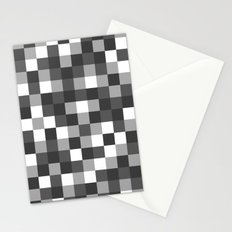 Colour Block Black and White Stationery Cards