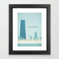 Vintage Chicago Travel … Framed Art Print