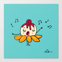 Peach Melba Canvas Print