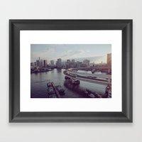Tokyo Bay Framed Art Print