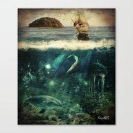 Water World Fantasy Scen… Canvas Print