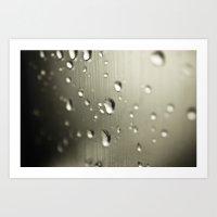 Rain Drops Keep Falling Art Print