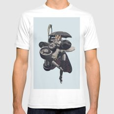 Wrap us in a blanket of nightshade SMALL Mens Fitted Tee White