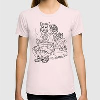 COOL CATS Womens Fitted Tee Light Pink SMALL