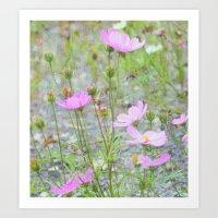 Wild Flowers In The Fiel… Art Print