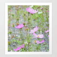 Wild Flowers In The Fiel… Art Print
