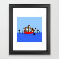 Floating Umbrella Framed Art Print
