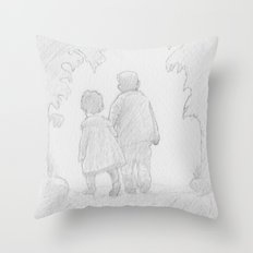 A Walk in Paradise  Throw Pillow