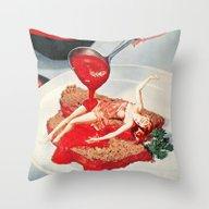 Throw Pillow featuring 350 Fahrenheit by Eugenia Loli