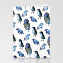 Painted Bird Repeat Pattern.  Stationery Cards