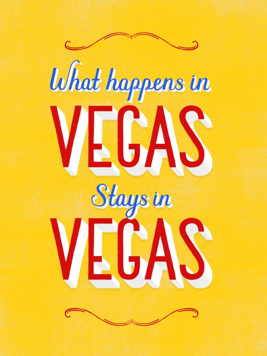 What Happens in Vegas Stays in Vegas Canvas Print