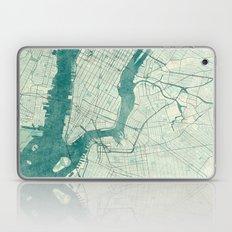 New York Map Blue Vintag… Laptop & iPad Skin