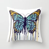 Melting Monarch (collab … Throw Pillow
